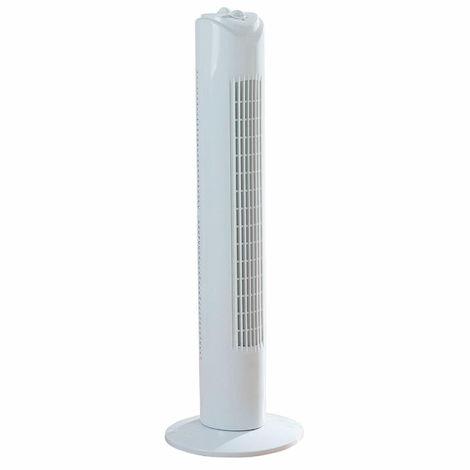 "Fine Elements - 32"" Inch Tower Fan - White (3 Speed/Portable/2hr Timer/45W)"