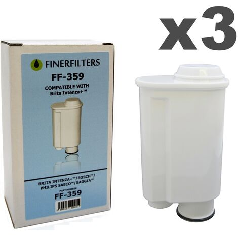 Finerfilters FF-359 Compatible Water Filter To Fit Brita Intenza+ Coffee Makers (3 pack)