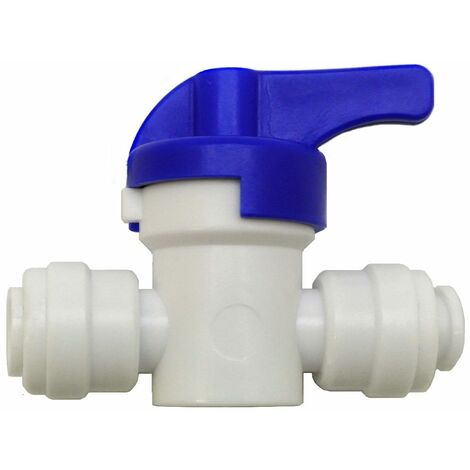 """main image of """"Finerfilters In Line Push Fit Shut Off Valve Tap / Isolation Valve ¦ 1/4"""" x 1/4"""" ¦ For Water Filter Systems & Reverse Osmosis LLDPE Tubing"""""""
