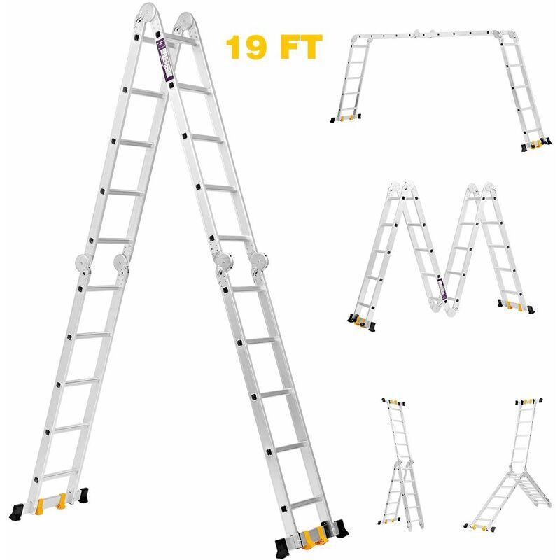 /Échelle t/élescopique multifonction en aluminium Antid/érapante Conforme /à la norme EN131 CE Charge maximale : 150 kg
