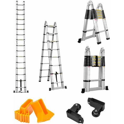 Finether 5M Telescopic Ladder: Aluminium Telescoping