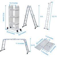 Finether Multi-Purpose Step Ladder Folding 12.1 FT