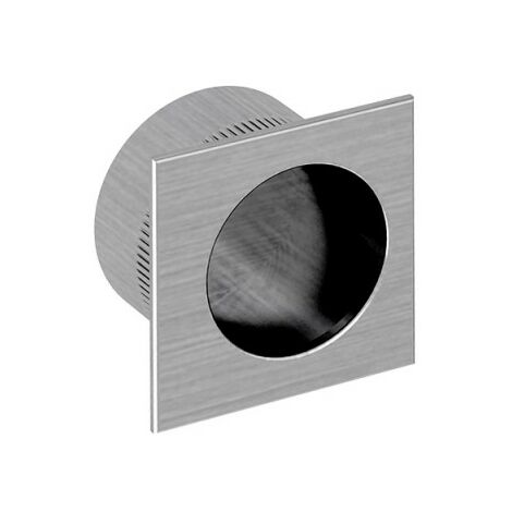 Fingerhülse für Schiebetüren, eckig, Nickel gebürstet, für Durchgangstüren, Zimmertüren