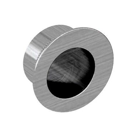 Fingerhülse für Schiebetüren, rund, Durchmesser 29 mm, Nickel gebürstet, für Durchgangstüren, Zimmertüren