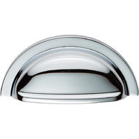 Fingertip Design Oxford Cup Pull - Satin Nickel - Centres 76mm