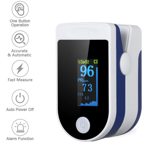 Fingertip Pulse Oximeter with Lanyard and Storage Bag Blood Oxygen Saturation