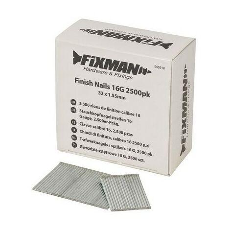 Finish Nails 16G 2500pk - 32 x 1,55mm (955318)