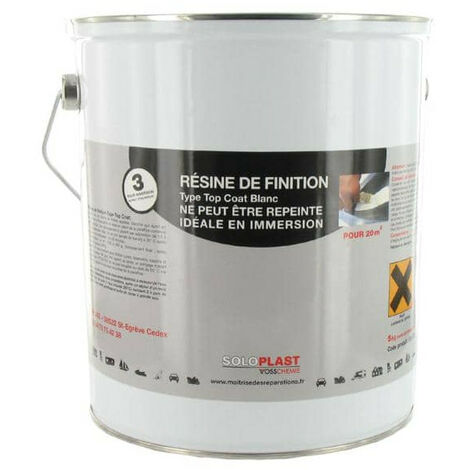 Finish Top Coat Resin Type Soloplast White 5 KG