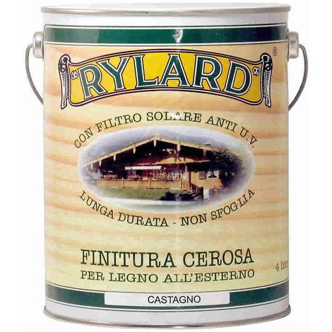 Finitura cerosa castagno rylard per legno litri 4 brava