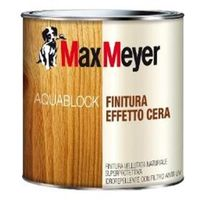 Finitura legno effetto cera Max Meyer Aquablock incolore 0.75 litri