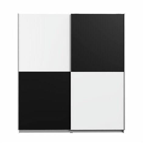 FINLANDEK Armoire de chambre ULOS style contemporain blanc et noir - L 170,3 cm