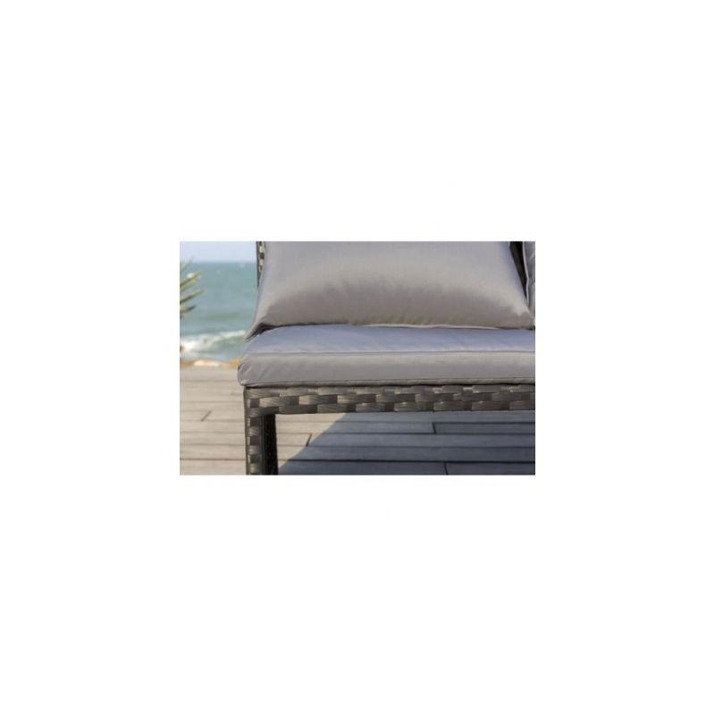 FINLANDEK - Salon de jardin avec angle en resine tressee - HILPEA