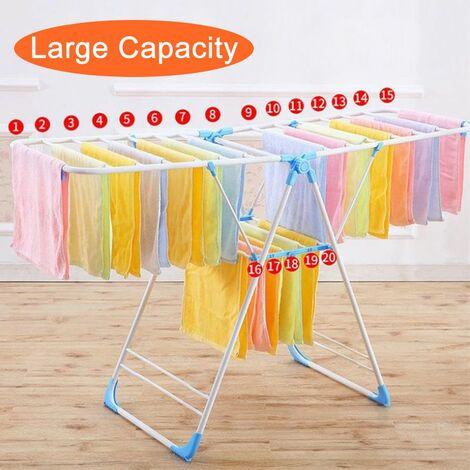 Finned Dryer Airer Drying Laundry Horse Folding Line Indoor Outdoor