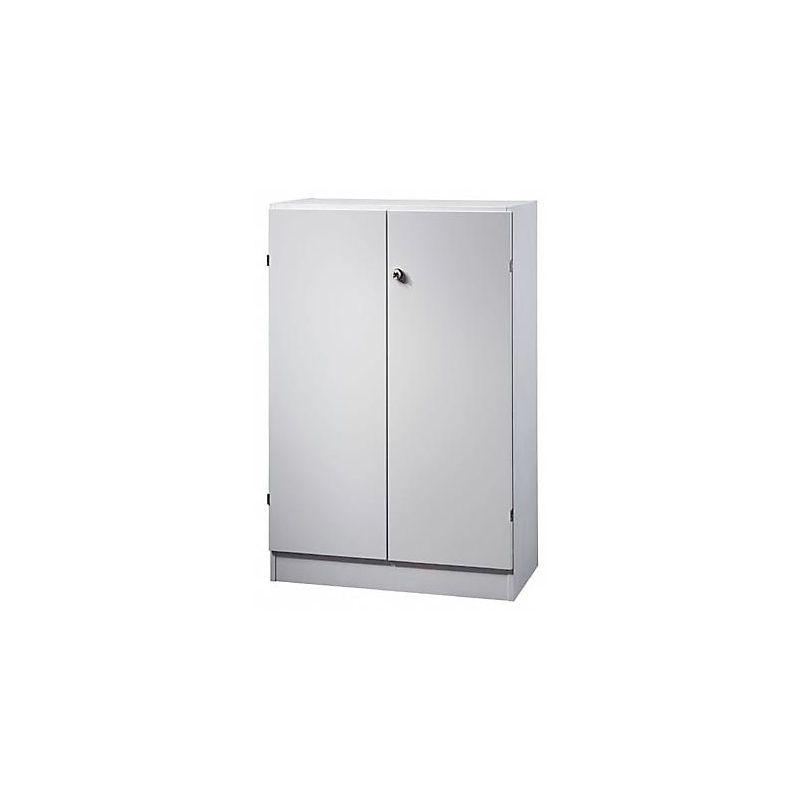 Certeo - FINO Armoire de bureau - 2 tablettes, h x l x p 1270 x 800 x 420 mm - gris clair | 6550/5/5 - Coloris corps: gris clair