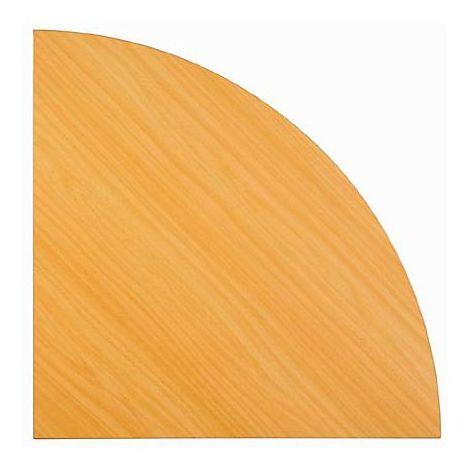 FINO Plan de liaison - plateau d'angle 90°, arrondi - façon hêtre | LE 91/6