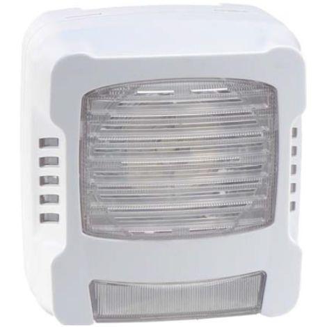 Finsecur ASL0010-001-A Combo flash de radio PMR blanca sirena