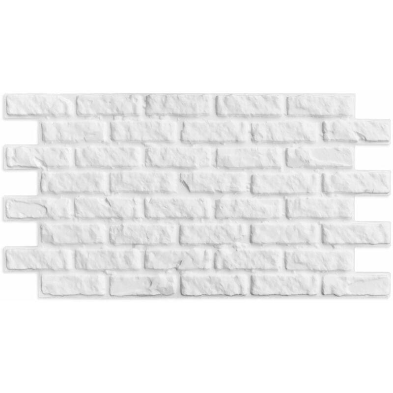 Finto mattone ricostruito in polistirolo 110 cm x 56 cm - Piastrelle finto mattone ...