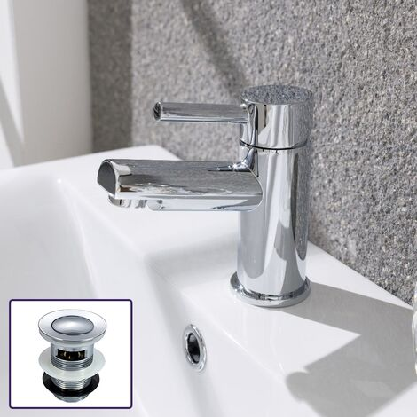 Fiona Cloakroom Mono Basin Mixer Tap with Waste