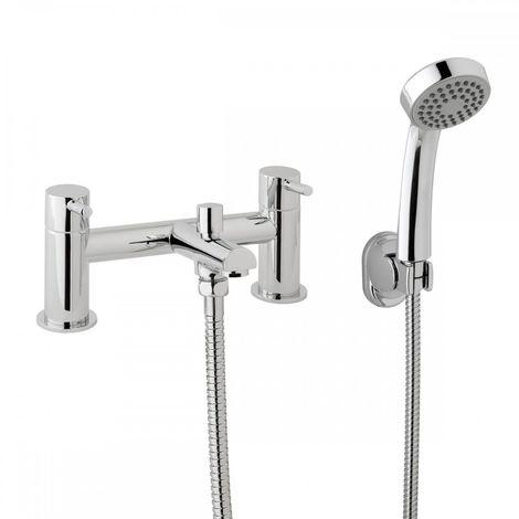 Fiona Modern Bath Shower Bridge Filler Mixer Tap with Hand Held
