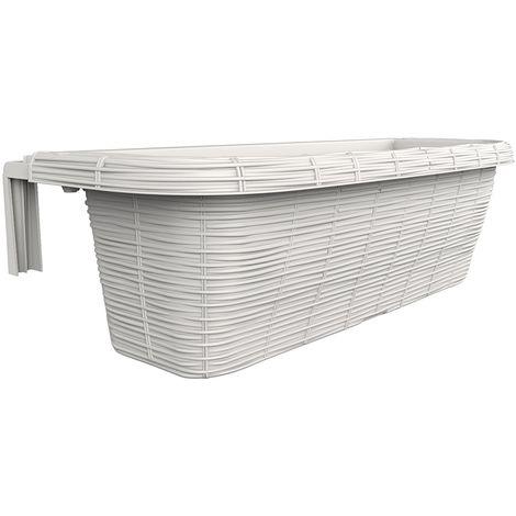 Fioriera Balcone Balconiere 60 cm In Plastica Regolabile Rondine Panna