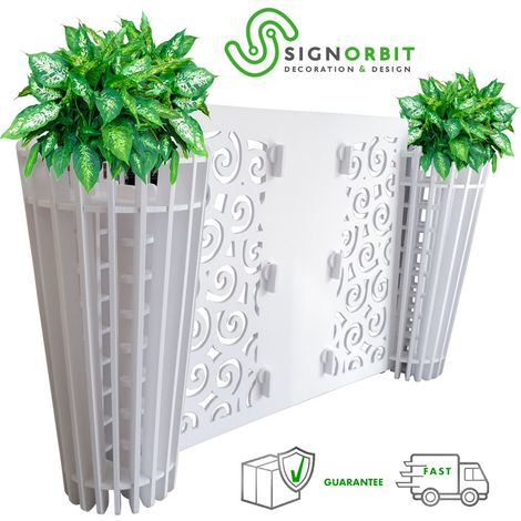 """main image of """"FIORIERA modulare componibile - design Porta vasi con divisorio staccionata - 152x88cm - in PVC da 1cm"""""""