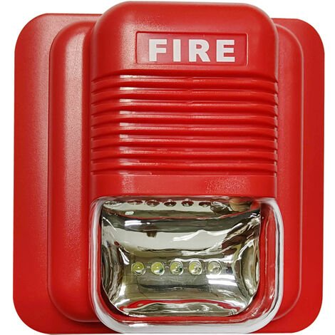 Fire Alarm Strobe Siren Security System Red