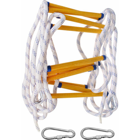 """main image of """"Fire Escape Rope Ladder Heavy Duty Fire Safety Ladder with Carabiners, 5M"""""""