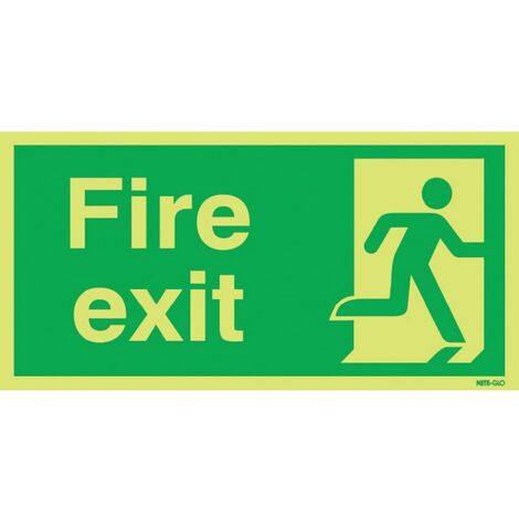 Fire Exit Photoluminescent Signs
