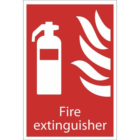 683625 Fixman CO2 EN3 Fire Extinguisher Sign 202 x 82mm Rigid
