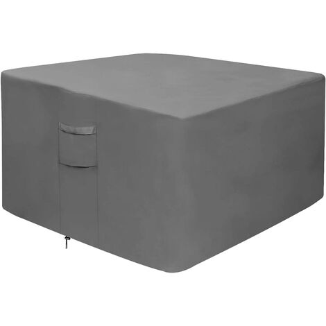 Fire pit cover, 100% waterproof square gas fire pit table cover, outdoor heavy duty lawn patio furniture cover with vents and handles, 36 inches long x 36 inches wide x 20 inches high, beige and brown