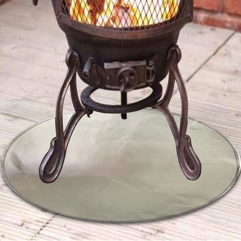 """main image of """"Fire pit mat - Grill Mat - Gas BBQ Fireproof Mat Heat Resistant Mat Easy to Carry Outdoor Protect Deck, Easy to Clean, Reusable, Durable, Heat Resistantand (Round 36"""")"""""""
