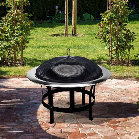 Fire pit Stainless steel Ø 75 cm