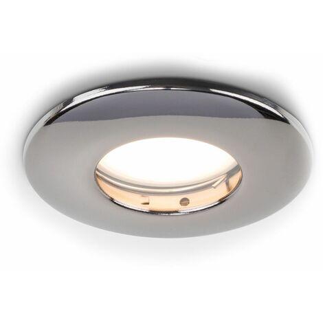 Fire Rated Bathroom IP65 Domed GU10 Ceiling + GU10 LED Bulb