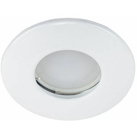 Fire Rated Bathroom IP65 Rated Domed GU10 Ceiling + GU10 LED Bulb