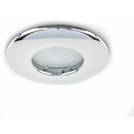 Fire Rated Bathroom/Shower Ip65 Rated Domed Ceiling + Gu10 LED Bulb
