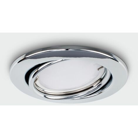 Fire Rated Chrome Tiltable GU10 Round Ceiling Downlight Recessed Downlight