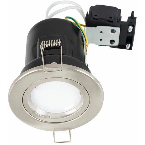 Fire Rated Die Cast Twist & Lock Gu10 Ceiling + Gu10 LED Bulb