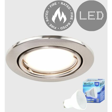 Fire Rated Tiltable Ceiling Recessed Downlight