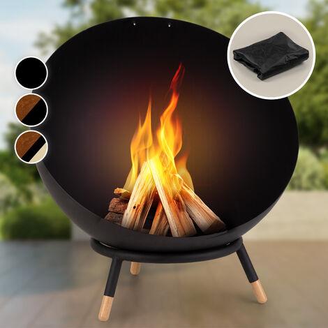 "main image of ""Fireball Wood Brasero de acero inclinable para jardines o terrazas Ø 60 cm"""