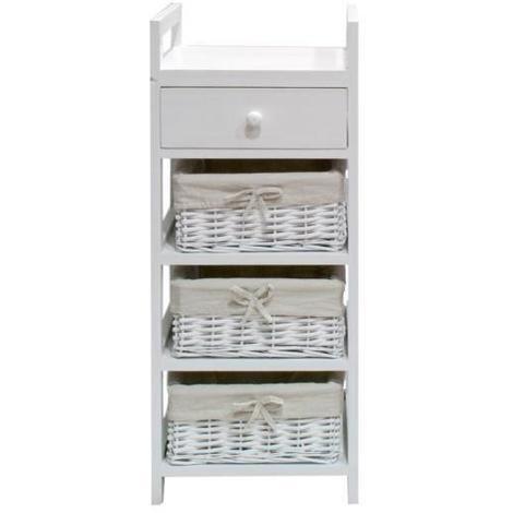 FIRENZA Petit meuble de rangement de salle de bain 30 cm - Laque ...
