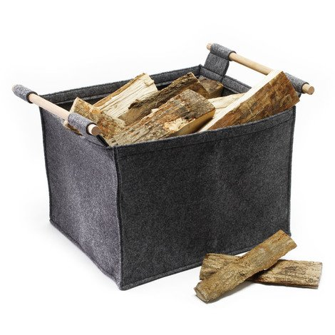 Fireside Firewood Carrier Log Felt Bag non-woven Fire Wood Basket Holder Camping