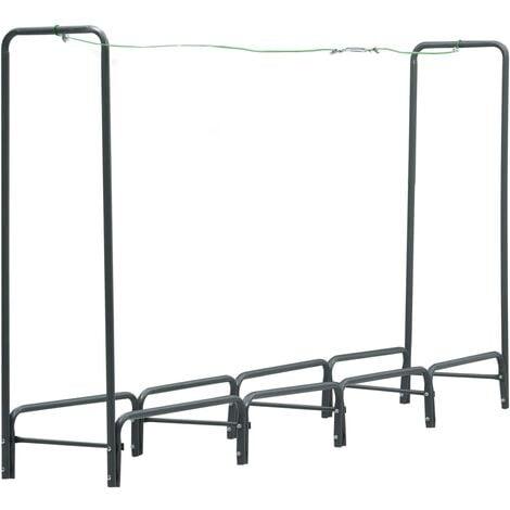 Firewood Rack Anthracite 240x35x120 cm Steel