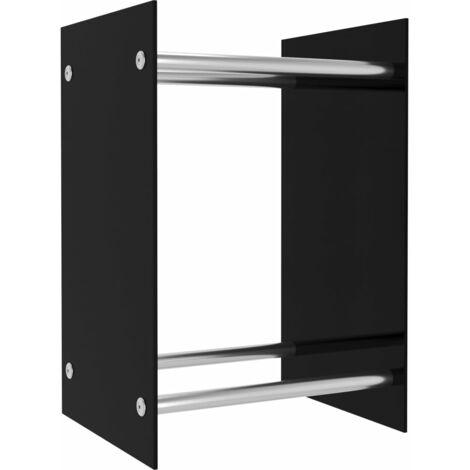 Firewood Rack Black 40x35x60 cm Glass