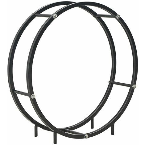 Firewood Rack Black 70x20x70 cm Steel