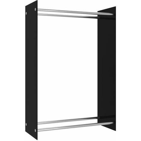 Firewood Rack Black 80x35x120 cm Glass