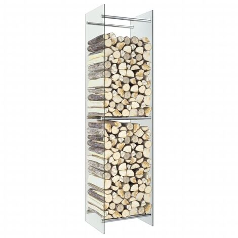 Firewood Rack Transparent 40x35x160 cm Glass