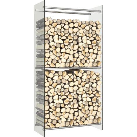 "main image of ""Firewood Rack Transparent 80x35x160 cm Glass - Transparent"""