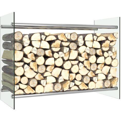 Firewood Rack Transparent 80x35x60 cm Glass