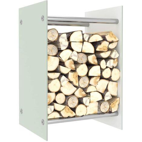 Firewood Rack White 40x35x60 cm Glass