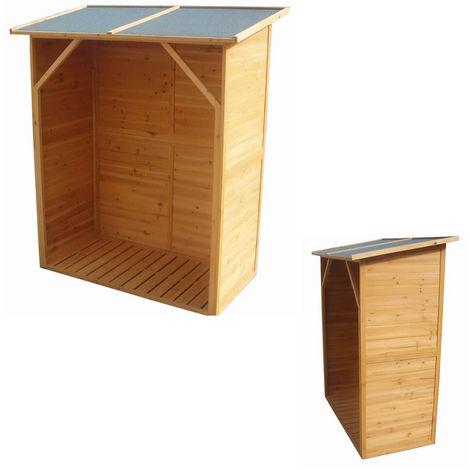 Firewood Shelf Shelter XXL Wood